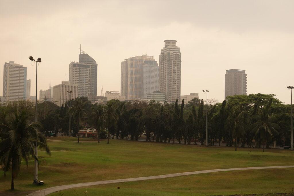 Smog over Manila.