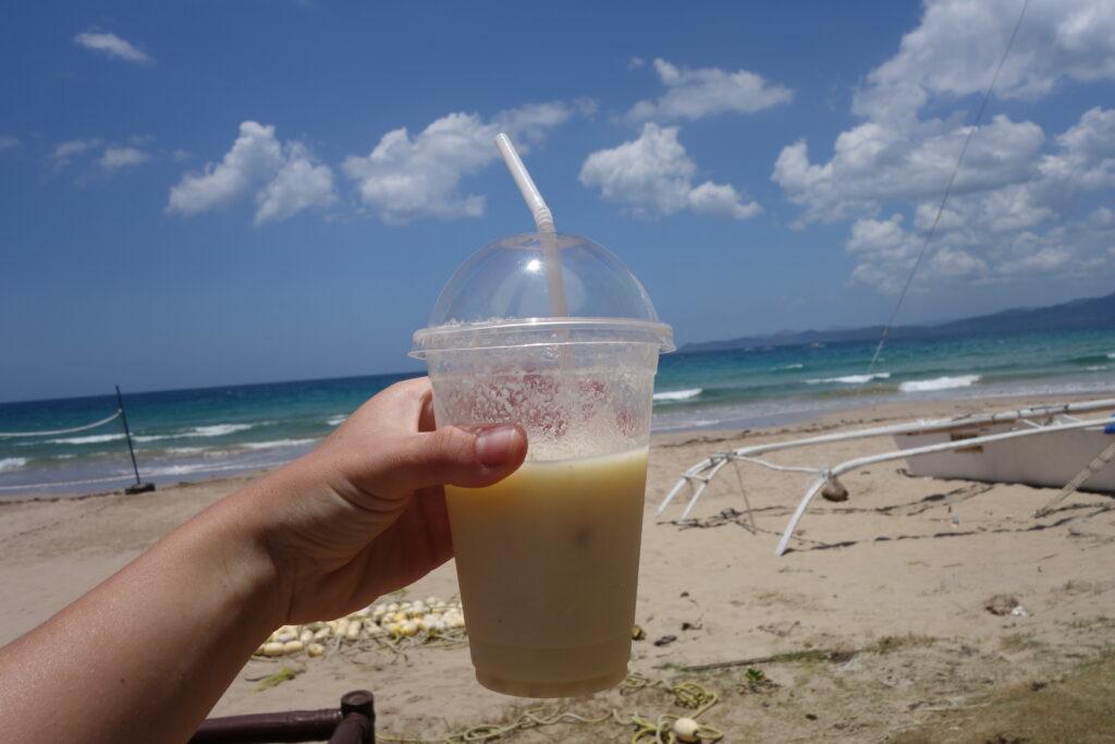 A soursop shake in Palawan.