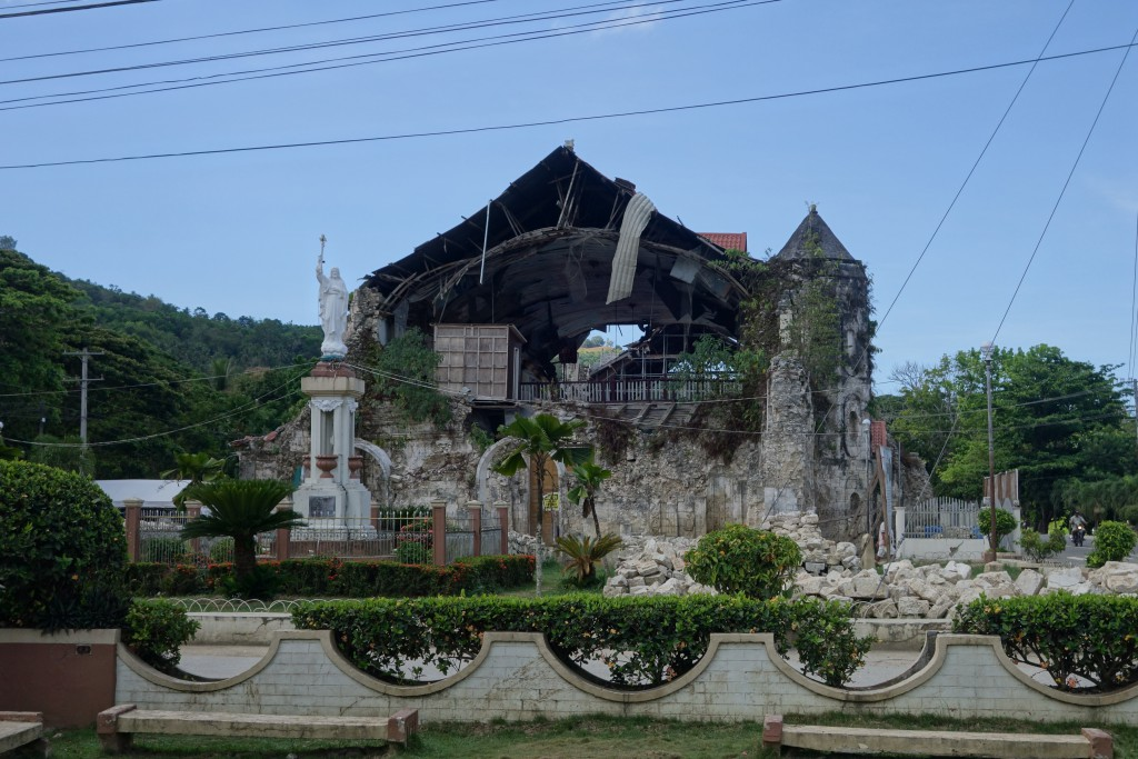What remains of the historic Loboc church in Bohol.