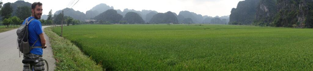 Biking around Tam Cốc.