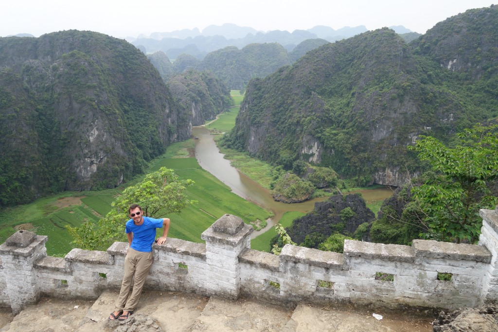 Jon with Tam Cốc in the background.