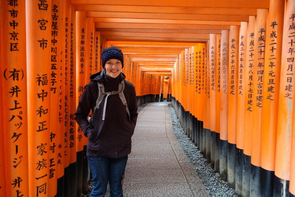 The Fushimi Inari shrine in Kyoto.