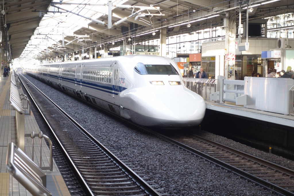 High speed Shinkansen train.