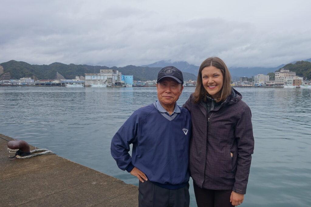 Amy with Sanada-san in Nachikatsuura.