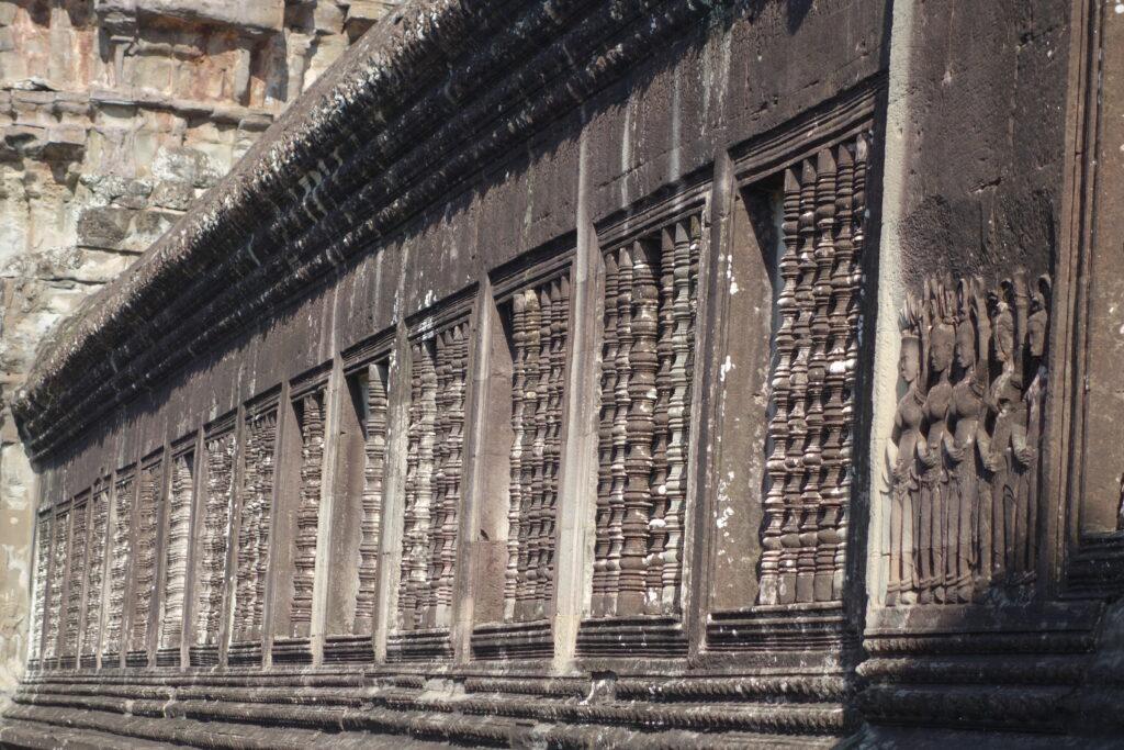 False windows at Angkor Wat.