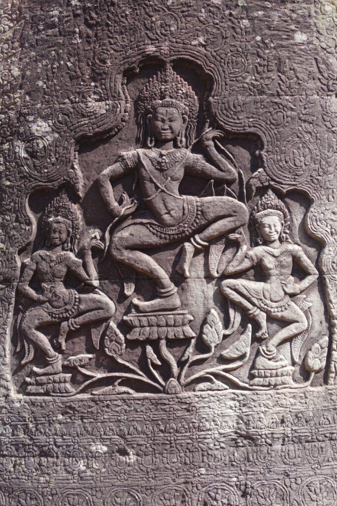 Dancing Apsaras at Bayon.