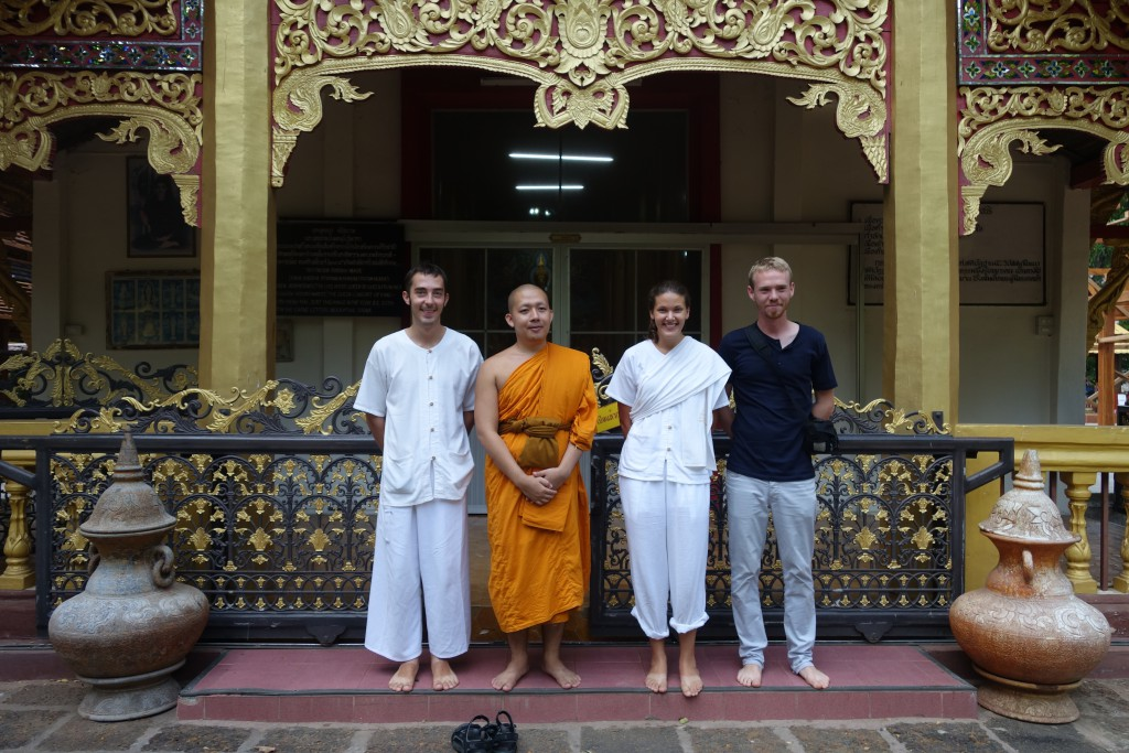 Meti, one of the monks at Wat Ram Poeng gave us (and another traveler) a tour after our closing ceremony - up until this point we weren't supposed to be looking around or admiring the area.
