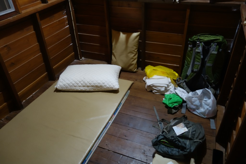 The inside of Jon's room.