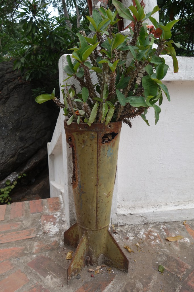 We saw utilization of old bomb casings everywhere in Laos.