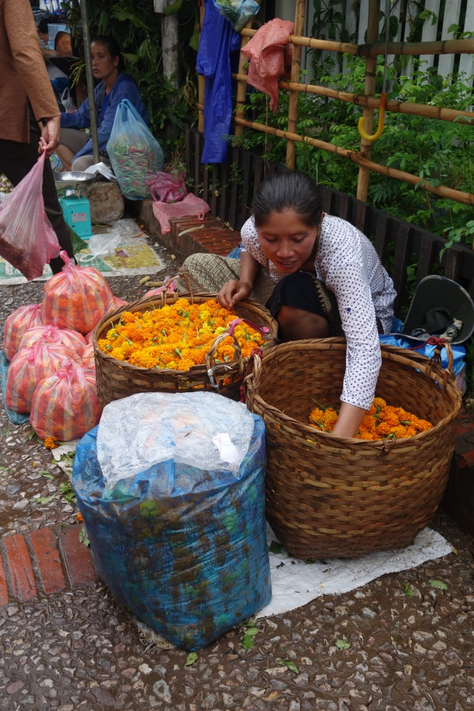 A vendor at Luang Prabang's morning market.