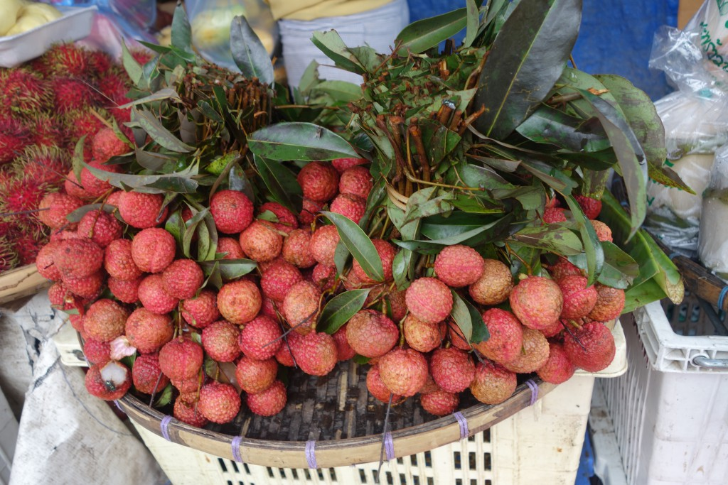 Lychees for sale in Thailand.