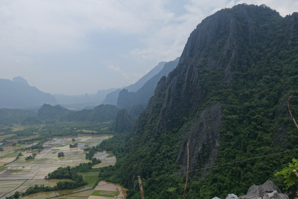 The view from the top! Hiking in Vang Vieng.