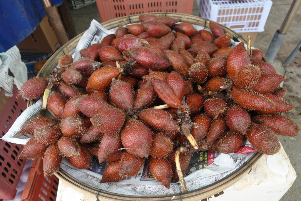 Salak (snake fruit) for sale in Laos.