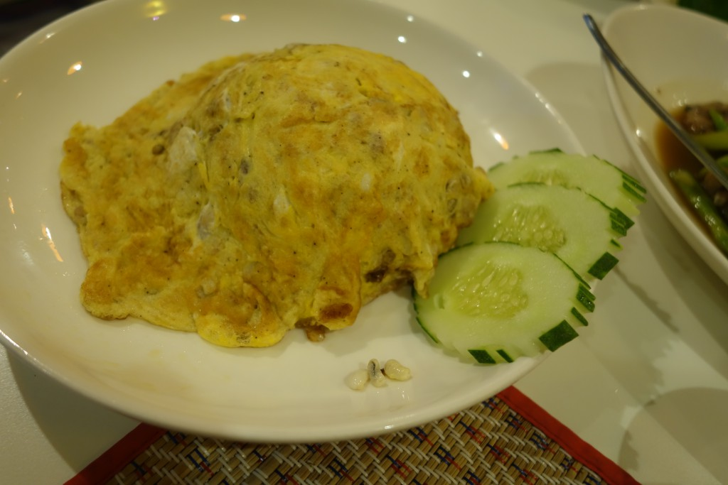 The eggs are tiny and embedded in the omelet. You'll have to use your imagination.