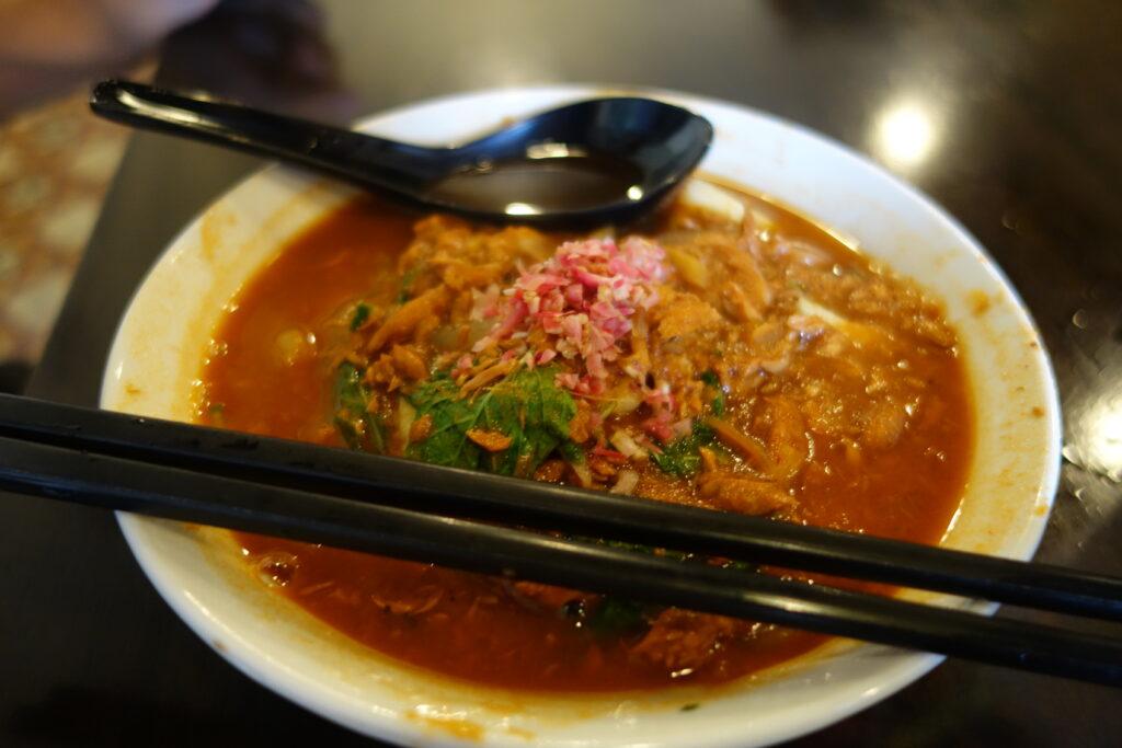Laksa, a signature dish of Penang.