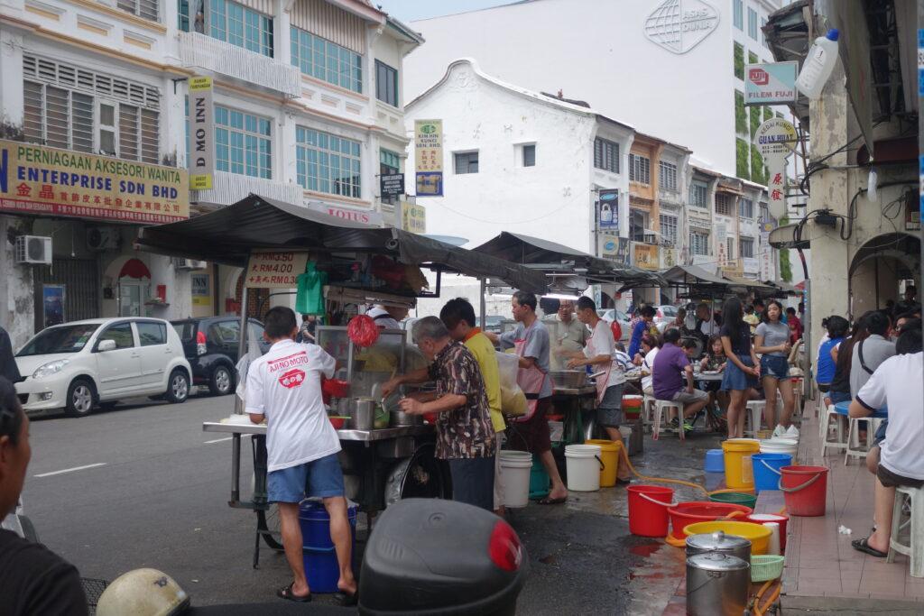 Street vendors in Penang.
