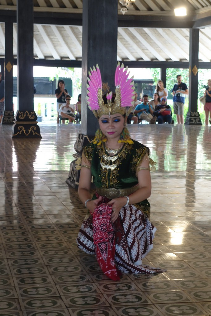 A dancer at the Palace in Jogjakarta.