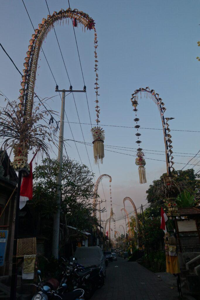 Penjor in Ubud, Bali.