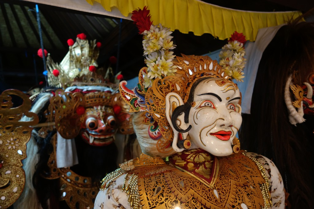 Masks and costumes in Ubud.